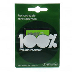 GP Batteries Peak Power 200mAh 9V Ni-Mh Şarjlı Pil, 8.4 Volt